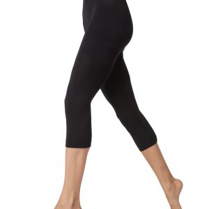 Women 3/4 Leggings in Black Colour