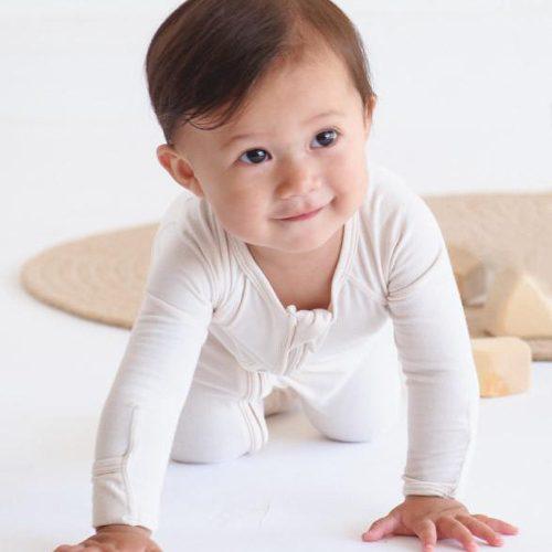 White Baby Long Sleeve Onesie