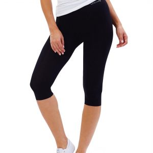 Women Crop Legging in Black