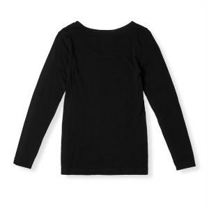 Long Sleeve Black Top for Women