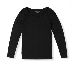 Women Long Sleeve Black Top