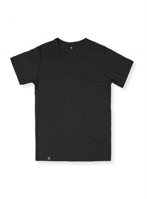 Men Crew Neck Black Tshirt