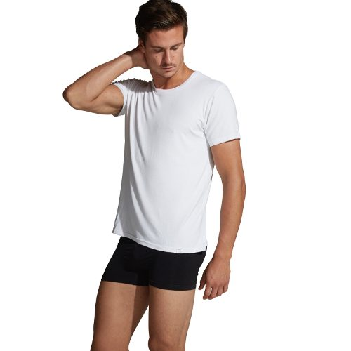 White Crew Neck T-shirt For Men