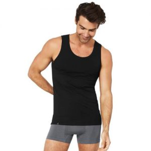Black Singlet Tank Top For Men