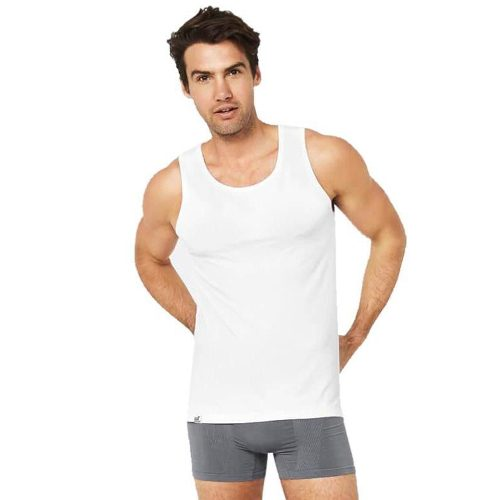 Mens Singlet Tank Top White