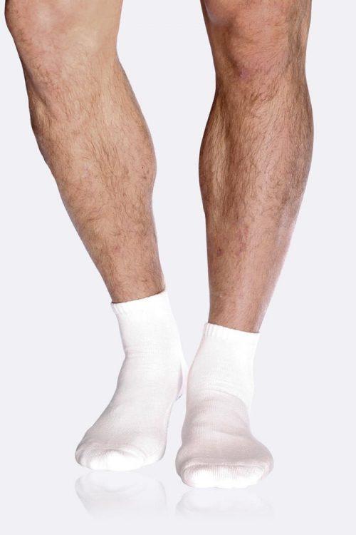 Mens White Sport Ankle Socks