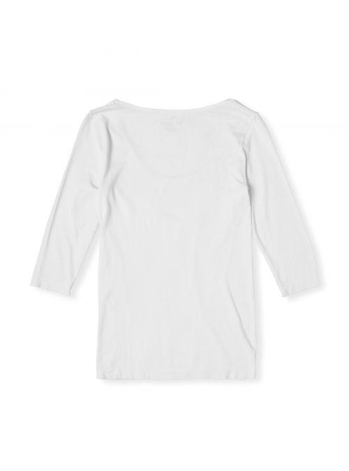Womens White Scoop Top Full Sleeves