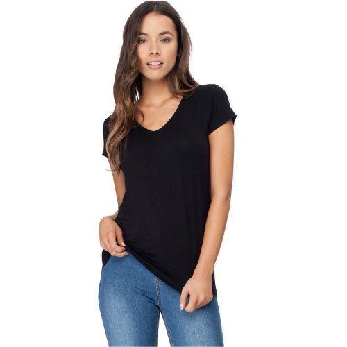 Women's V-Neck T-Shirt Black
