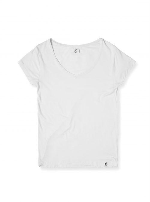V-Neck White T-Shirt for Women