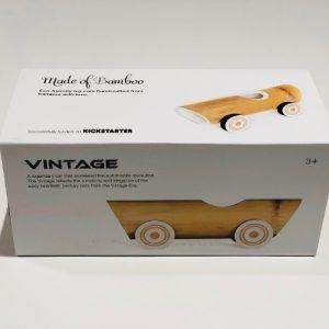Håndlaget Bambus Vintage Bil leketoy Box