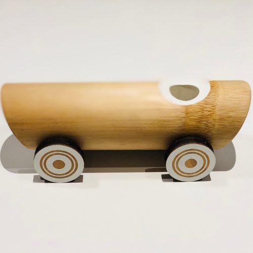 Håndlaget Bambus Vintage Bil leketoy Side View