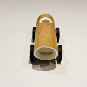 Håndlaget Vintage Bambus Bil leketoy