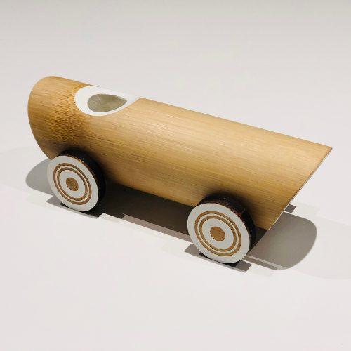 Vintage Bambus Bil leketoy