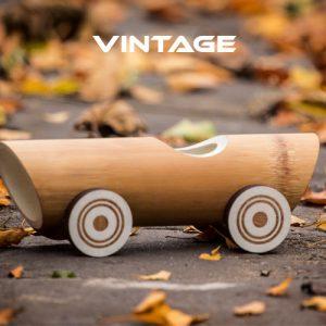 Vintage Bambus Bil