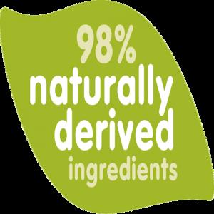 98% naturlig avledede ingredienser
