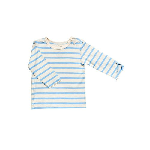 Long Sleeve Stripe blue Baby Genser