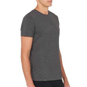Crew Neck svart T-skjorte for menn
