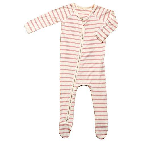 Pink Stripe Baby Long Sleeve Onesie