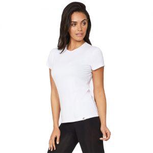 Crew Neck hvit T-skjorte for kvinner