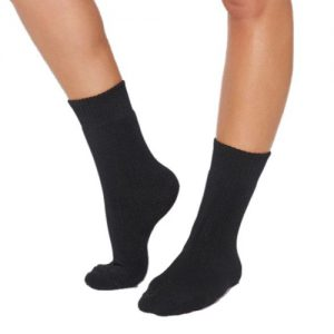 Black Crew Boot Socks