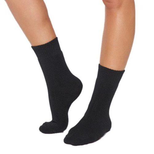 Black Crew Boot Socks