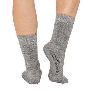 Grey Women Crew Boot Socks