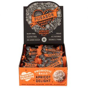 Vegan Probiotic Balls Apricot Delight Open Pack