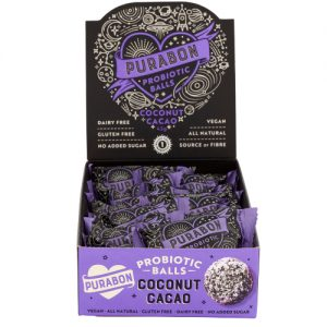 Probiotic Balls Coconut Cacao 43g Open Pack