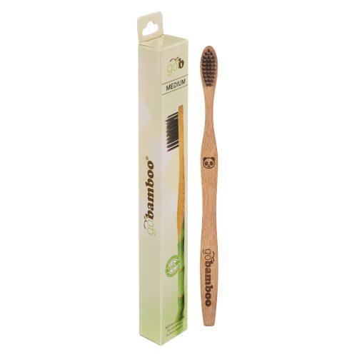 Bambus Tannbørste Charcoal Medium