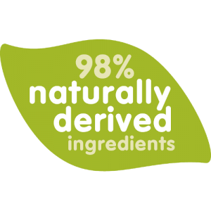 98 % naturally Derived Ingredients