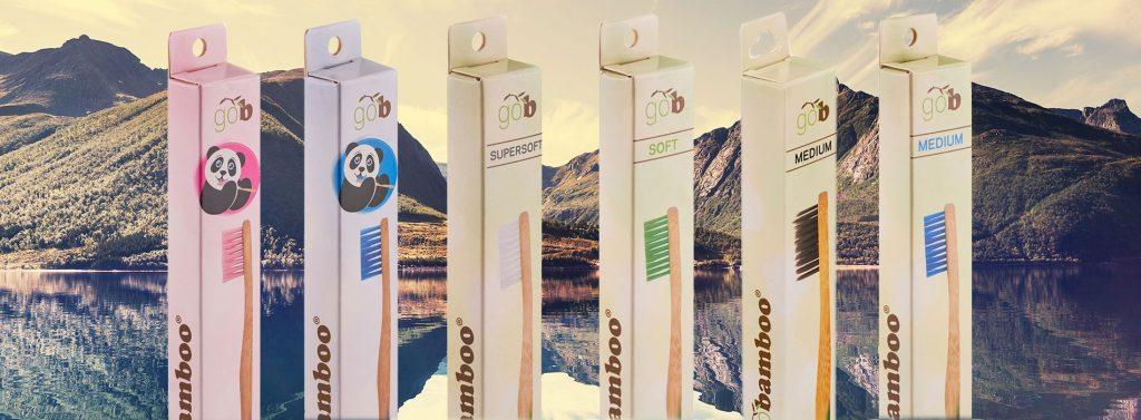 GoBamboo tannbørste banner